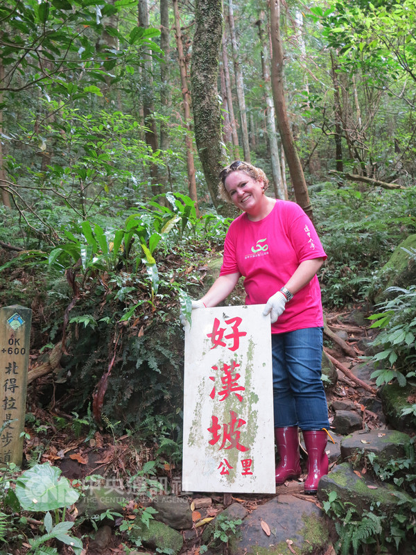 美籍導遊羅雪柔(圖)說,台灣雖面臨中國打壓,在國際地位上處境較艱困,但不影響外國人到台灣旅遊意願,台灣應大方展現旅遊特色。(羅雪柔提供)中央社記者蘇木春傳真  107年9月9日