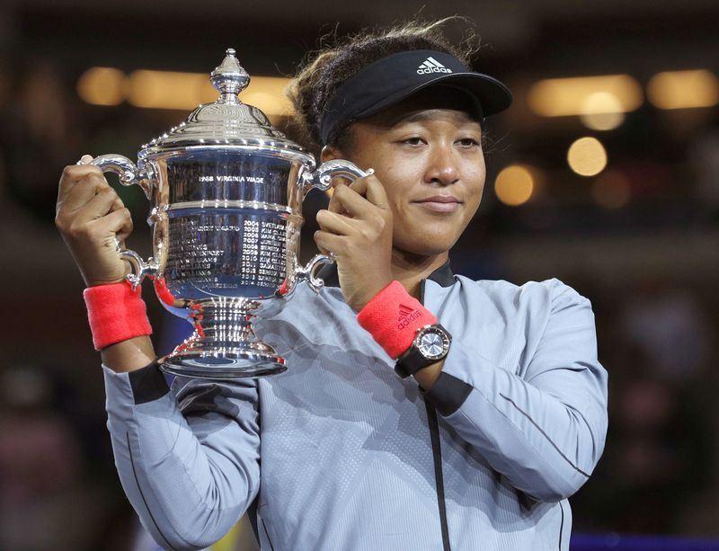 大坂直美(圖)8日在美網女單決賽擊敗美國名將小威廉絲,成為史上首位奪得大滿貫女單冠軍的日本選手。(檔案照片/共同社提供)