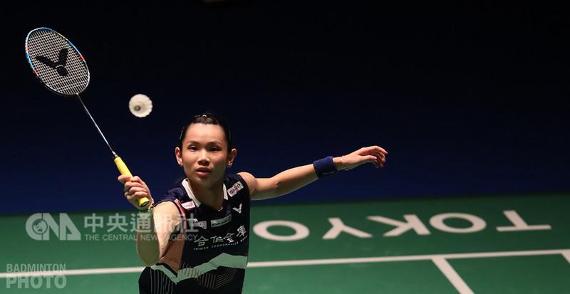 羽球世界球后戴資穎(圖)11日在日本羽球公開賽首輪僅用37分鐘,就以直落二擊敗世界排名37的馬來西亞女將謝抒芽,取得16強門票。(Badminton Photo提供)中央社記者龍柏安傳真  107年9月11日