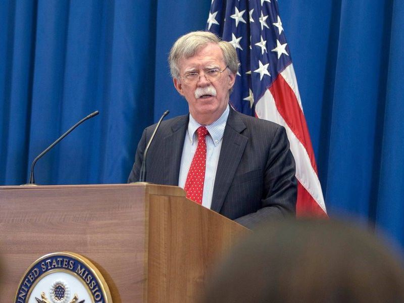 白宮國家安全顧問波頓10日放狠話,若國際法院敢有指控在阿富汗美國人犯罪的舉動,將逮捕並制裁國際法院法官或其他官員。(圖取自波頓推特twitter.com/AmbJohnBolton)