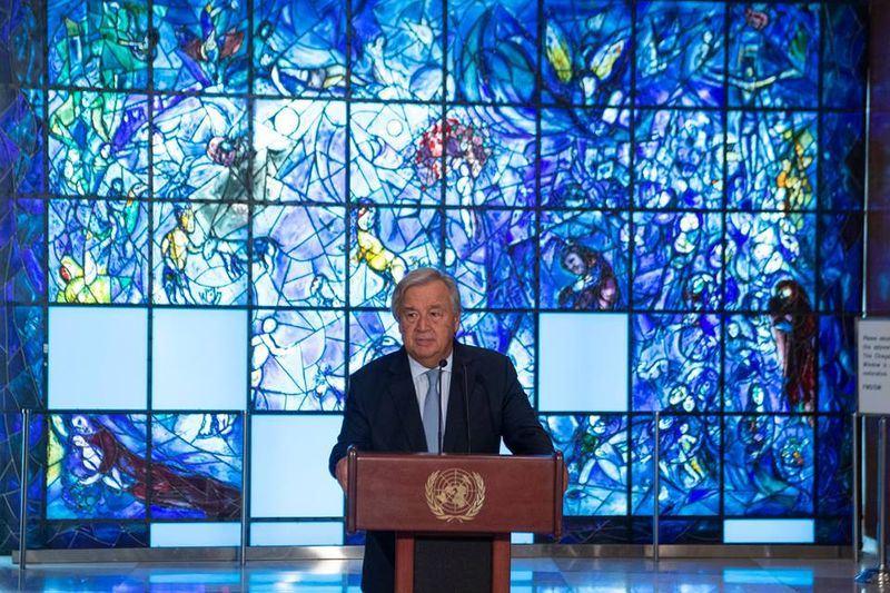 聯合國秘書長古特瑞斯12日提出的年度報告中,列出中國、俄羅斯等38個「可恥」國家發動不人道對待、監視、羅織罪名和公開汙名化運動。(圖取自聯合國臉書www.facebook.com/unitednations)