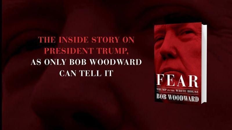 揭發水門案的華盛頓郵報記者伍德華的新書「恐懼:川普入主白宮」11日上市。(圖取自伍德華臉書www.facebook.com)
