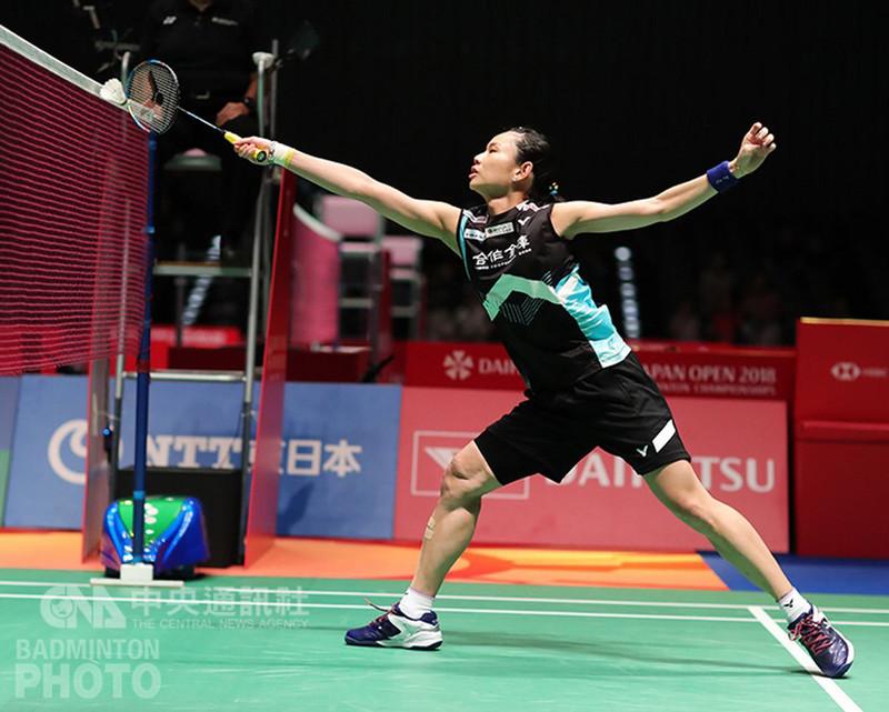 世界球后戴資穎(圖),13日在日本羽球公開賽女單16強,意外不敵中國大陸20歲新星陳曉欣,爆冷淘汰。(Badminton Photo提供)中央社記者龍柏安傳真  107年9月13日