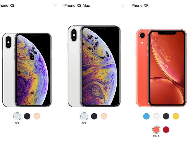 蘋果公司美國時間12日發布新款iPhone,還針對iPhone Xs Max、iPhone XR推出實體雙卡的中國版。(圖取自中國蘋果官網 www.apple.com)