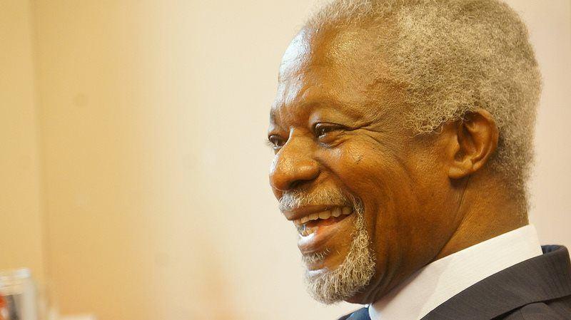 聯合國前秘書長安南逝世,享壽80歲。13日在故鄉迦納下葬。(圖取自安南臉書www.facebook.com/kofiannanofficial)