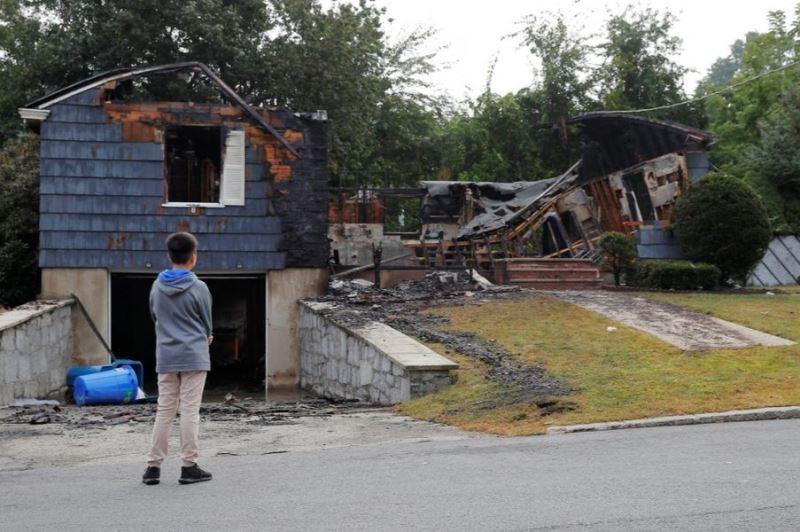 美國麻薩諸塞州波士頓郊區發生氣爆意外,摧毀數十戶民宅,約8000人無家可歸。(路透社提供)