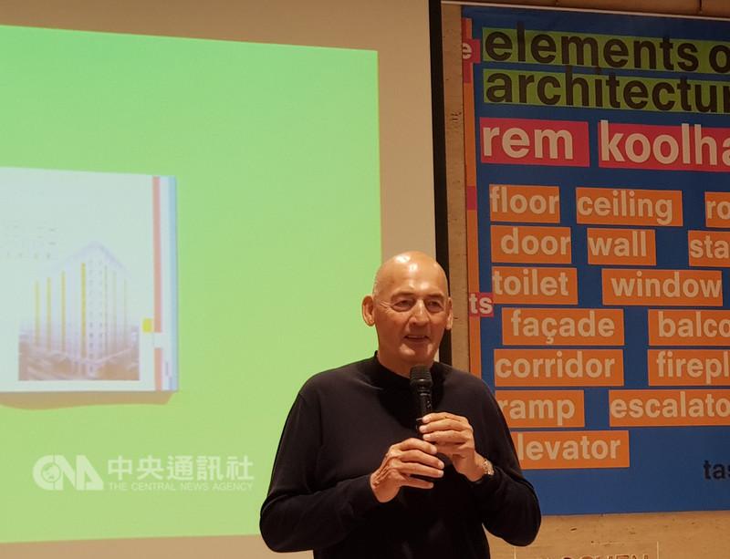 由荷蘭建築師雷姆‧庫哈斯(Rem Koolhaas)(圖)設計的台北藝術中心2008年競圖開始至今,工程仍在進行,庫哈斯接受中央社專訪時說:「建築的耐心很重要,耐心不是等待,而是要找到突破。」中央社記者鄭景雯攝 107年11月7日