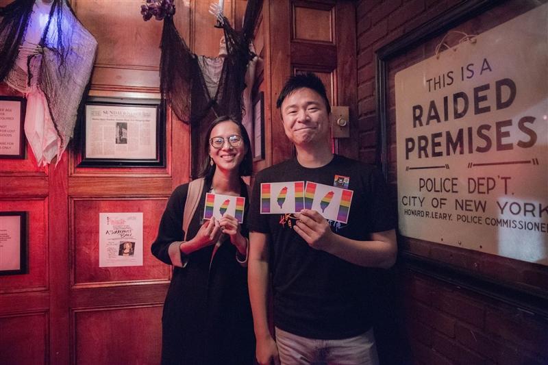美國部分LGBT維權人士為支持台灣婚姻平權公投而募款,並打算把籌措到的資金用於宣傳廣告。(圖取自www.facebook.com/freedomtomarry.org)