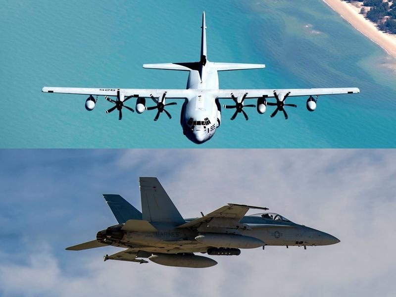 駐日美軍一架KC-130空中加油機與一架F/A-18大黃蜂式戰鬥機6日在日本四國島外海相撞墜海。(圖取自www.facebook.com/IIIMEF/)