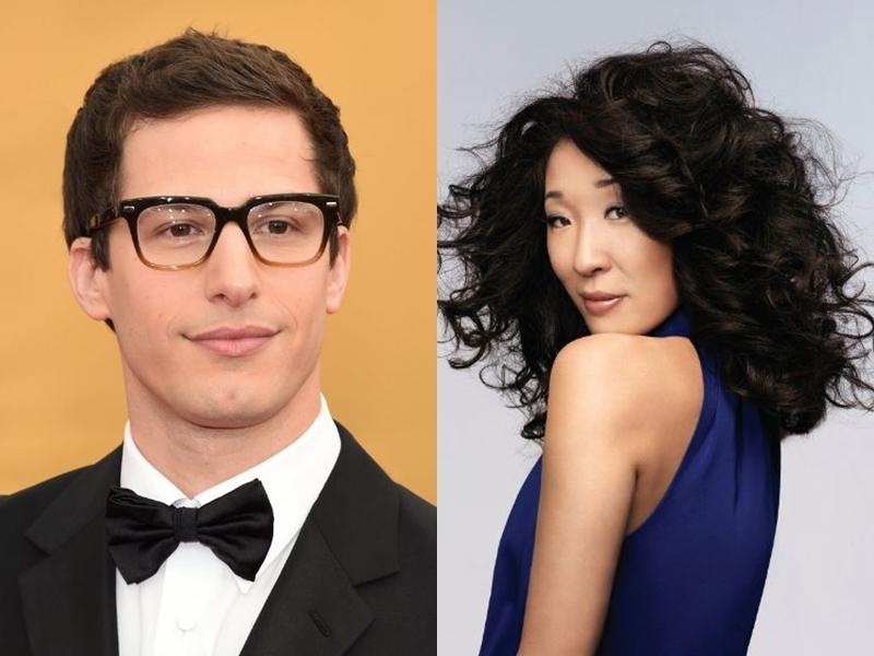 美國第76屆金球獎將在2019年1月6日舉行,由喜劇男演員安迪山伯格(左)和亞裔女演員吳珊卓(右)搭檔主持。(圖取自twitter.com/goldenglobes)