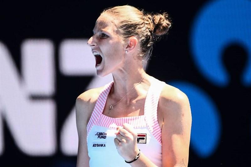 捷克女網好手普里斯科娃(圖)23日擊敗美國名將小威廉絲,成功晉級澳網4強賽。(圖取自facebook.com/AustralianOpen)