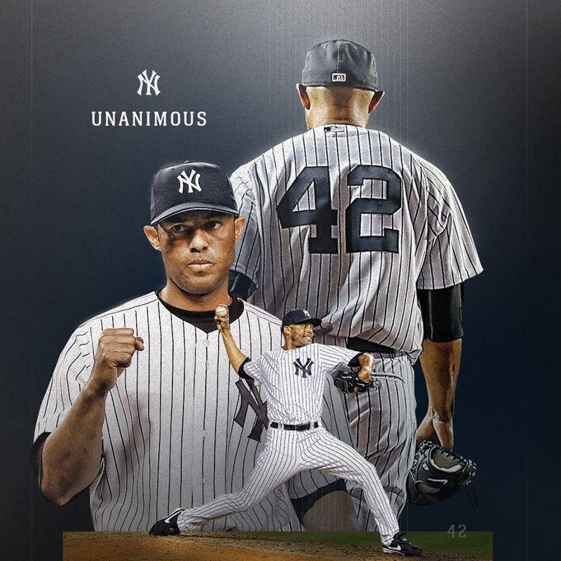 洋基傳奇投手李維拉22日成為史上第一位全票入選名人堂的球星。(圖取自facebook.com/Yankees)