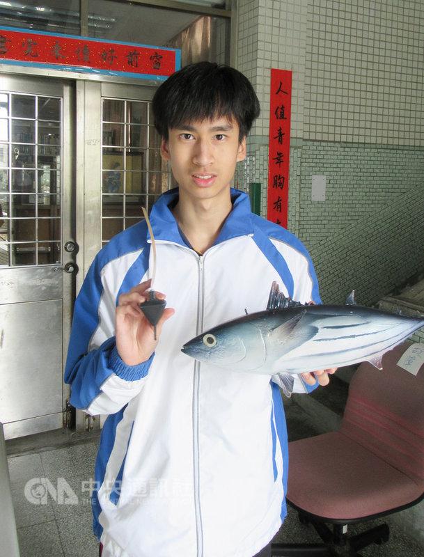 基隆市安樂高中學生陳懷璞(圖)日前以「魚能發電之開發與應用」主題在台灣國際科展工程學科獲得一等獎殊榮,5月將前往美國參加「國際科技展覽會」。(安樂高中提供)中央社記者王朝鈺傳真 108年2月20日