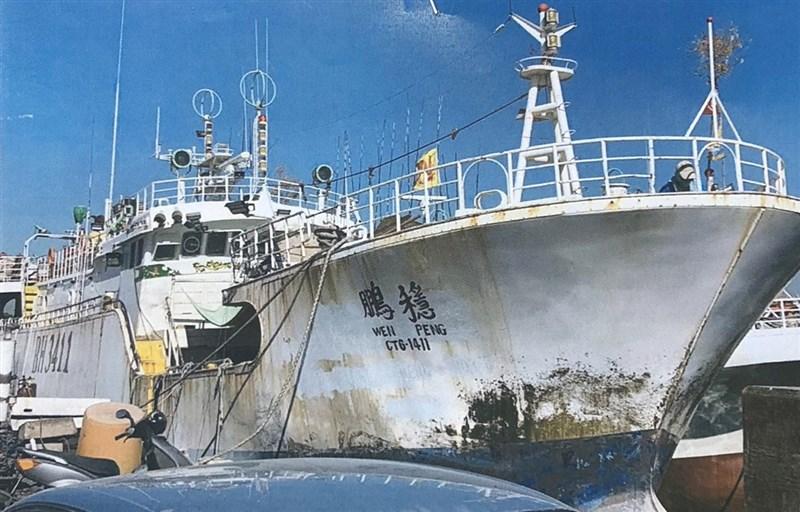 屏東東港籍大型漁船「穩鵬號」20日凌晨發生海上喋血案。(東港區漁會提供)中央社記者郭芷瑄傳真 108年2月20日