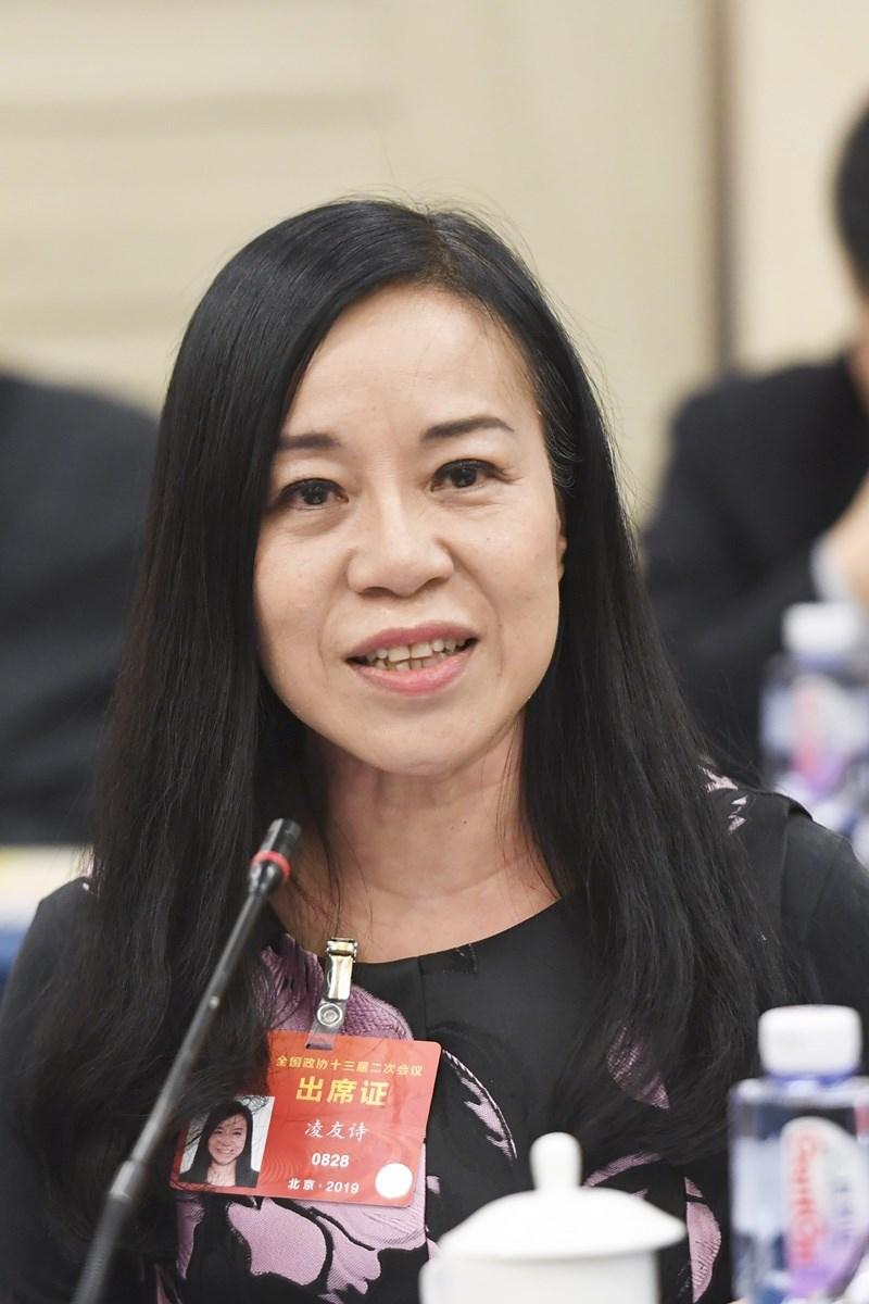 港區台籍中國全國政協委員凌友詩可能被台灣註銷戶籍,她14日表示,在政協大會發言前已有心理準備。(檔案照片/中新社提供)