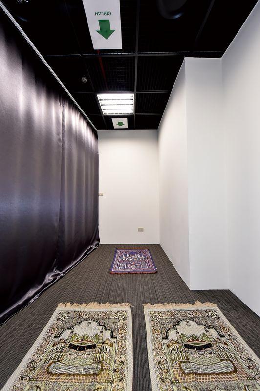 台北探索館2樓設置穆斯林祈禱室,打造友善旅遊環境。(許宜容攝)