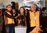 台湾灯会在云林 蔡总统点灯