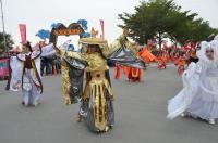 台湾灯会踩街 布袋戏COSPLAY表演