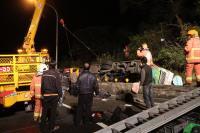 国道5游览车祸酿17死 初步排除陆客