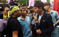 反年改抗議 部分媒體遭推擠追罵
