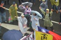 反年金改革抗爭碰大雨(1)