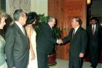 1992年10月 行政院長郝柏村宴請巴拿馬總統