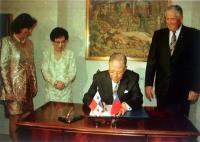 1997年9月 中華民國總統李登輝參加巴拿馬國宴