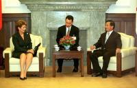 2000年7月 陳水扁總統接見巴拿馬總統莫絲柯索
