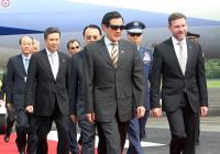 2014年6月 馬總統參加巴拿馬新任總統瓦瑞拉就職典禮