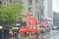 反年改615抗議 警方架起蛇籠警戒(1)