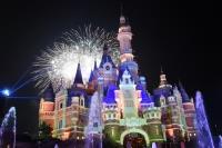上海迪士尼一週年慶煙火秀