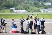 空軍官校營區開放活動預演 民眾拍攝