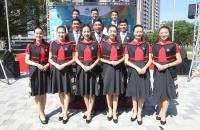 台北世大運選手村開村 接待人員吸睛