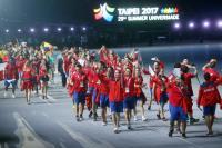 台北世大運開幕 智利代表團進場
