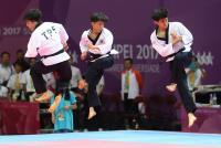 中華跆拳道男團品勢奪銀