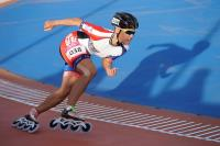 世大運滑輪溜冰 陳映竹300公尺銀牌(2)
