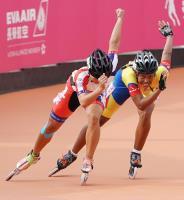 世大運滑輪溜冰 女子500米陳映竹摘金(2)