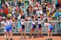 世大運滑輪3千公尺接力 中華女團開心奪金