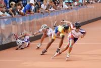 世大運滑輪溜冰 女子500米陳映竹摘金