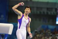世大運體操鞍馬 李智凱振臂歡呼