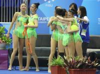 世大運韻律體操團體全能奪下銀牌