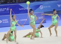 中華世大運韻律體操團體全能奪銀