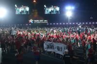 世大運閉幕式 加國選手拉布條感謝台北