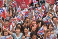 台灣英雄大遊行總統府出發 氣氛熱烈