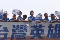 陳建安江宏傑遊行 行經館前路英雄谷