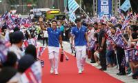台灣英雄大遊行 選手抵達台北市政府(2)