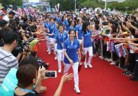 台灣英雄大遊行 選手抵達台北市政府(1)