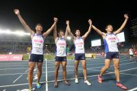世大運田徑4x100公尺接力 中華奪銅