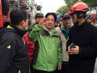 台南大樓倒塌 賴清德視察坐鎮