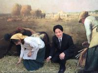 台南市長賴清德模仿名畫「拾穗」